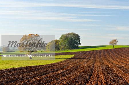 Countryside in Autumn, Vogelsbergkreis, Hesse, Germany