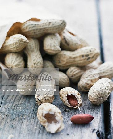 Peanuts in a paper bag