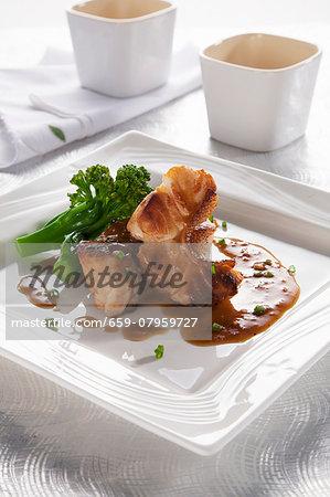 Grilled grouper with teriyaki orange sauce