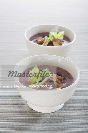 Brown rice porridge with shiitake mushrooms (Asia)