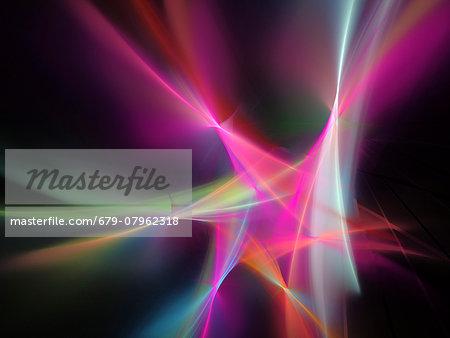 Light pattern, computer artwork.