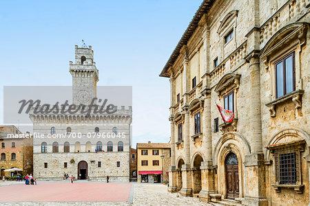 Palazzo Comunale, Piazza Grande, Montepulciano, Chiana Valley, Siena, Tuscany, Italy