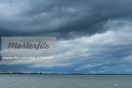 Thunder Storm over Lake, Etang de Vaccares, Camargue, Bouches-du-Rhone, Provence-Alpes-Cote d'Azur, France