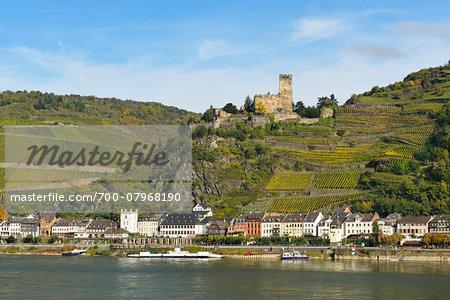 Rhine Valley, Castle Gutenfels, Kaub, Loreley, Rhein-Lahn-Kreis, Rhineland-Palatinate, Germany
