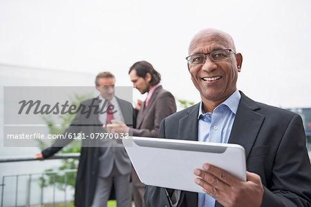 Progress Multi-Ethnic Group men planning proposal