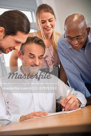 Team woman men office Brainstorming planning