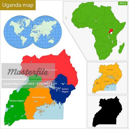 Administrative division of the Republic of Uganda