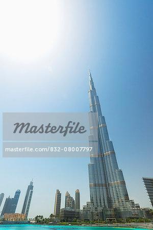 The Burj Khalifa; Dubai, United Arab Emirates