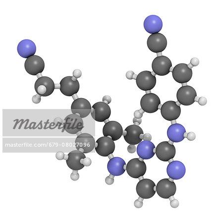 Rilpivirine HIV drug molecule