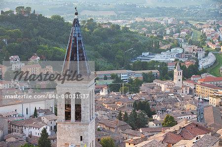 Spire of Duomo (Cathedral), Spoleto, Umbria, Italy, Europe