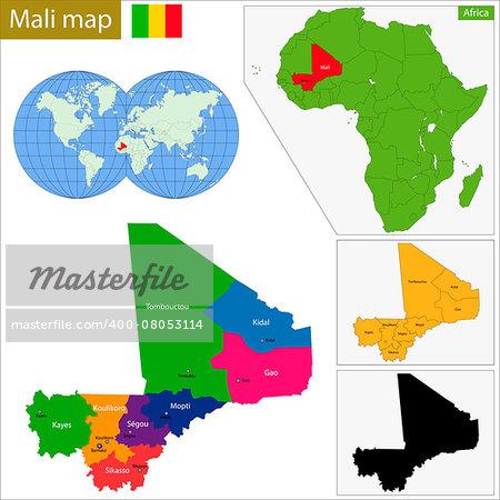 Administrative division of the Republic of Mali