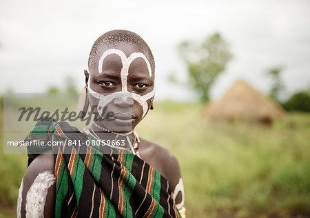 Portrait of Narugo, Mursi Tribe, Minisha Village, Omo Valley, Ethiopia, Africa