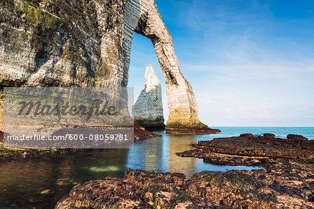 Porte d'Aval, Cote d'Albatre, Pays de Caux, Seine-Maritime, Haute-Normandie, France