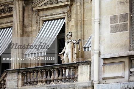 Statue on Balcony, Paris, France