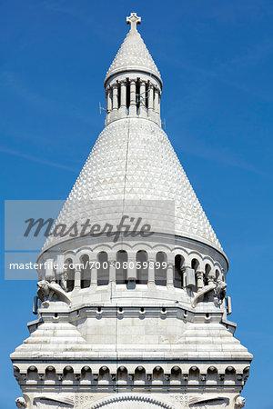 Architectural Detail of Basilique du Sacre Coeur, Montmartre, Paris, France