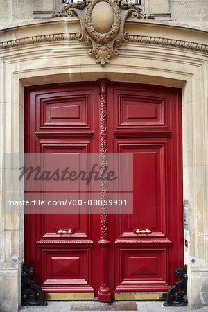 Red Wooden Doors, Paris, France