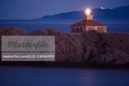 Lighthouse at Night, Greben, Dubrovnik