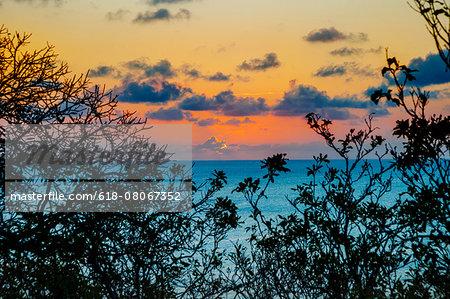 Sunset in Sancho Bay in Fernando de Noronha