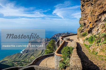 La Gomera island landscape. Canary islands, Spain.