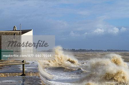 France, Moutiers-in-Retz, 44, tempestuous waves.