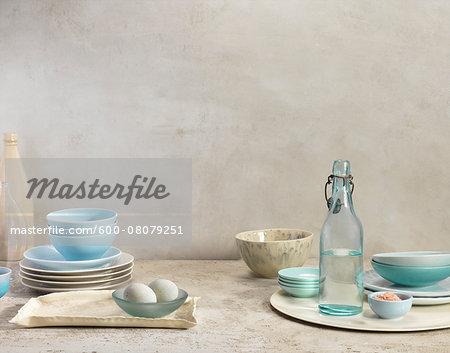 Plates, Bowls, Bottles and Trays, Studio Shot
