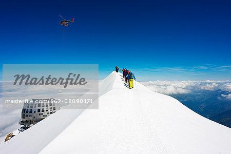Europe, France, Haute Savoie, Rhone Alps, Chamonix Valley, Mont Blanc Gouter refuge