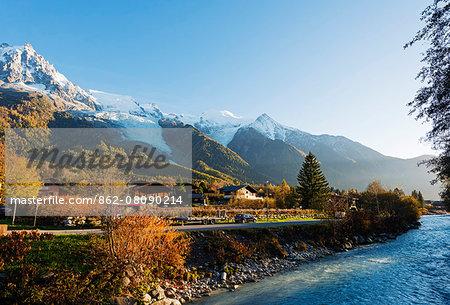 Europe, France, Haute Savoie, Rhone Alps, Chamonix Valley, River Arve