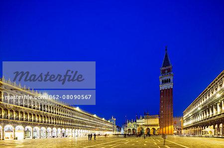 Europe, Italy, Veneto, Venice, San Marco, campanile in St Marks square