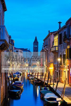 Europe, Italy, Veneto, Venice, canal boats