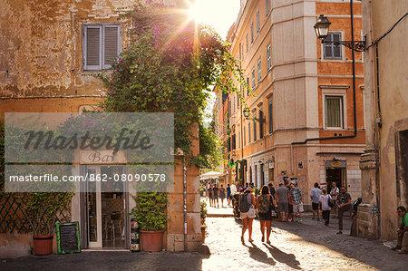 Italy, Italia. Latium, Lazio. Roma district. Rome, Roma. Trastevere.