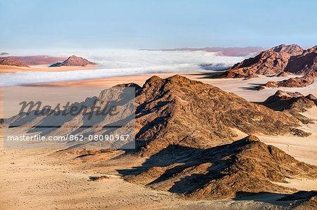 Africa, Namibia, Namib Desert, Sossusvlei. The arid landscape of Sossusvlei.