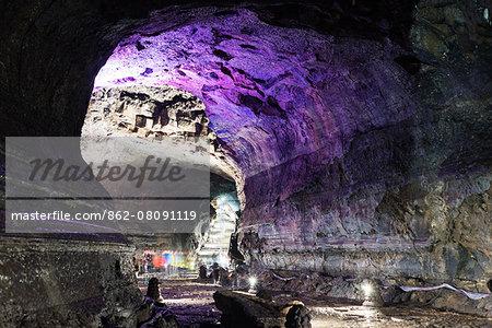 Asia, Republic of Korea, South Korea, Jeju island, Manjanggul Lava Tube, Unesco site