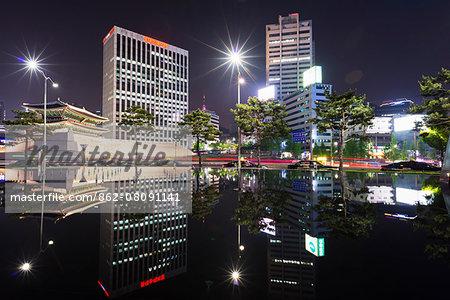 Asia, Republic of Korea, South Korea, Seoul, namdaemun city gate