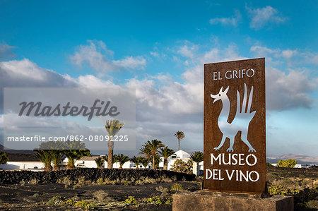 wine museum El Grifo, wine region La Geria, Lanzarote, Canary Islands, Spain