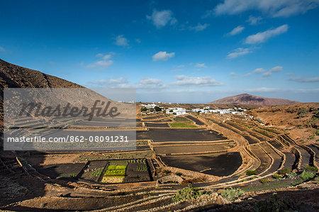 View from Mirador Guiguan, Mancha Blanca, Lanzarote, Canary Islands, Spain