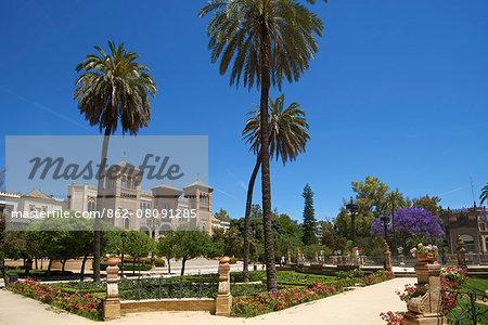 Mudejar Pavillon in Park Maria Luisa, Seville, Andalusia, Spain