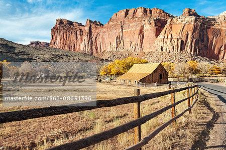 U.S.A., Utah, Capitol Reef National Park, Fruita, Barn