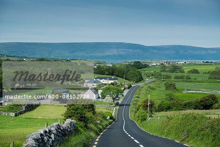 Scenic view of road to Burren, Republic of Ireland