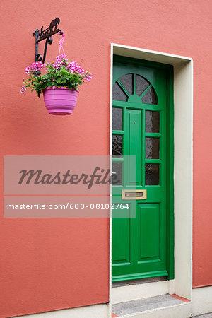 Close-up of doorway, Kinsale, Republic of Ireland