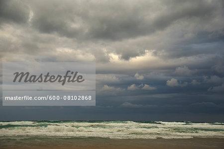 Dark Clouds over Rough Sea, Majorca, Balearic Islands, Spain