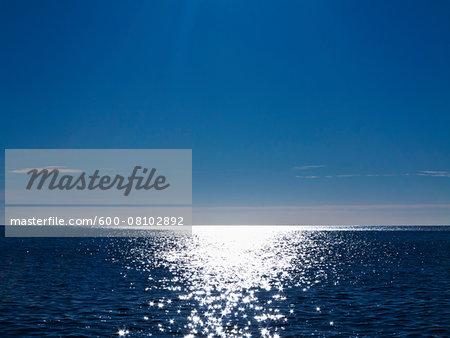 Sunshine Reflecting on Sea, Majorca, Balearic Islands, Spain