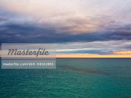 Overcast Sky over Calm Sea, Majorca, Balearic Islands, Spain