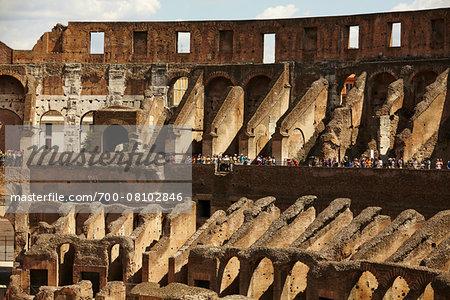 Interior of Colosseum, Rome, Lazio, Italy
