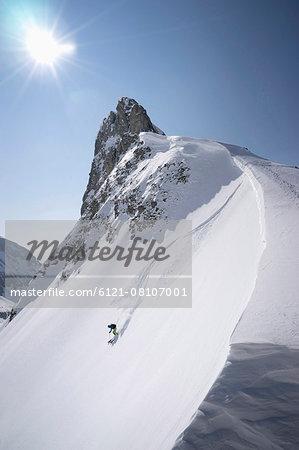 Young man skiing, Tyrol, Austria