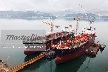 Ships at port, GoSeong-gun, South Korea