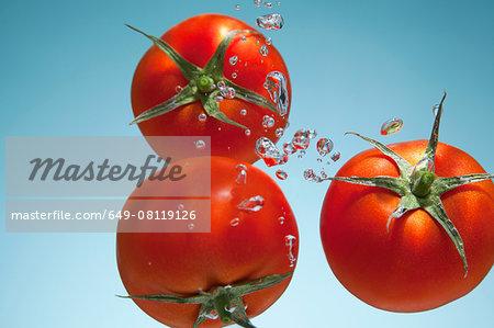 Tomatoes underwater