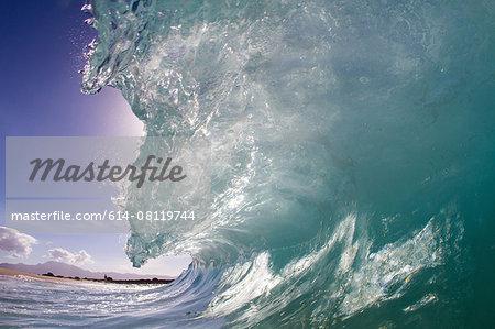 Barrelling wave, Hawaii, USA