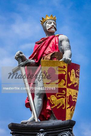 Statue of Llewellyn the Great, Conwy, Conwy County, Wales, United Kingdom