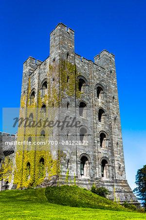 The donjun, Penrhyn Castle, Llandegai, Bangor, Gwynedd, Wales, United Kingdom