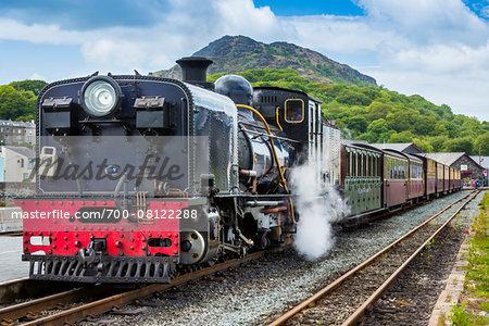 Welsh Highland Railway, Porthmadog, Gwynedd, Wales, United Kingdom